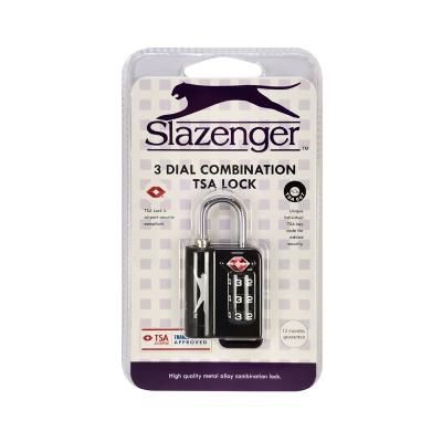 SLAZENGER COMBINATION TSA LOCK SZ7091
